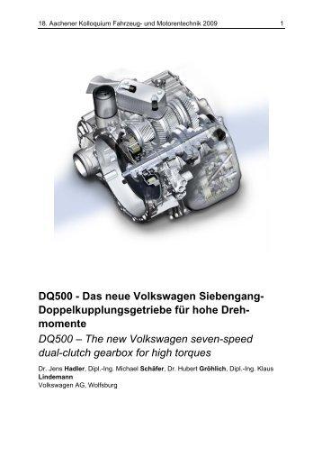 DQ500 - Das neue Volkswagen Siebengang ... - Aachener Kolloquium