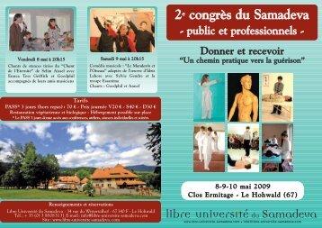 2e congrès du Samadeva - L'espace arc en ciel Arles