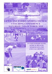 Sports Coaching Conference Saturday 2nd October 2010 (PDF, 430K)
