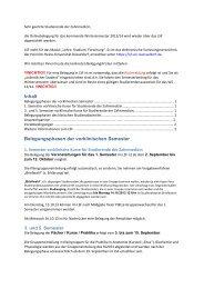 """Anschreiben zur """"Online-Belegung Zahnmedizin"""" - Medizinische ..."""