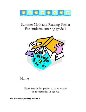 assets summer reading list packet entering third grade