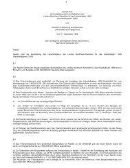 Haushaltsgesetz - Finanzministerium NRW