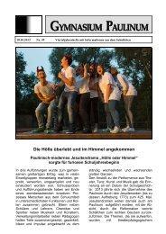 Paulinum-Info 49 - Gymnasium Paulinum