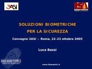 Soluzioni biometriche per la sicurezza