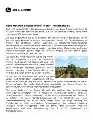 Neue Motoren & neues Modell in der Traktorserie 5G