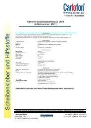 40411 Scheibendichtmasse Elastic - Carlofon