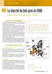 Le marché du foie gras en 2006 : premières tendances 2007