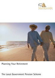 Planning Your Retirement The Local Government Pension Scheme