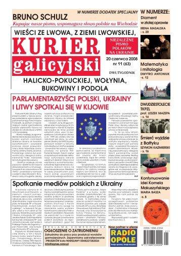 Kurier Galicyjski 11/2008 - Wschodnia Gazeta Codzienna