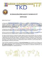 iii juegos suramericanos de taekwon-do itf