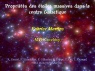 Propriétés des étoiles massives dans le centre Galactique