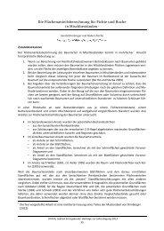 Die Flächenanteilsberechnung für Fichte und Buche in ...