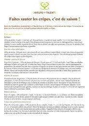 recettes de crêpes - Association Saveurs et Talents