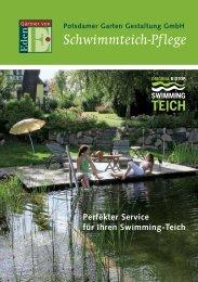 Schwimmteich-Pflege - Potsdamer Garten Gestaltung GmbH