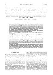 Perspectives on practice of vaginal birth after Cesarean section in ...