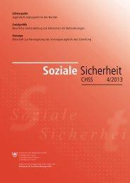 Soziale Sicherheit CHSS 4/2013 - EU Kids Online: Schweiz