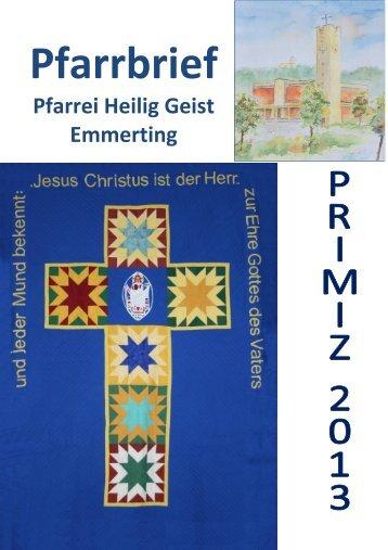 Pfarrbriefe_files/Primiz 2013 - Pfarrei Emmerting