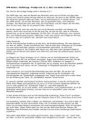 Und es reute Gott ... Predigt vom 13 2 2011 Glattbrugg - EMK Kloten ...