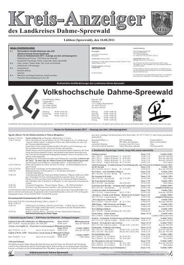 Kreisanzeiger als PDF zum Download - Volkshochschule Dahme ...