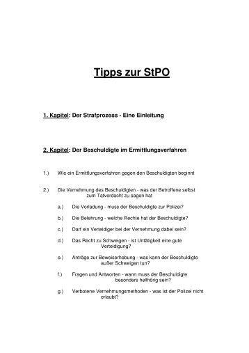 Tipps zur StPO - Strafverteidiger|büro