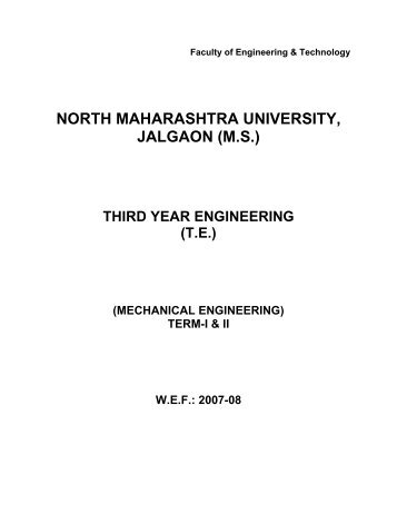 proposed syllabus in subject of - North Maharashtra University