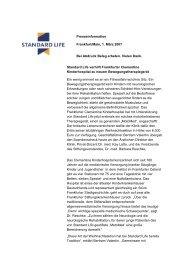 Presseinformation Frankfurt/Main, 1. März 2007 Bei Abdruck Beleg ...