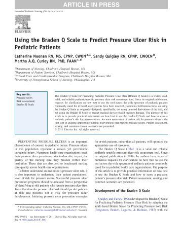braden scale assessment form A lower braden score indicates higher levels of risk for pressure ulcer   instructions: complete the form by scoring each item from 1-4 (1 for low level of.