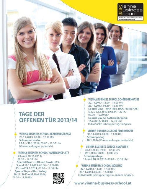 Auf Schritt und Tritt - Vienna Business School