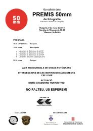 PREMIS 50mm - Federació catalana de fotografia