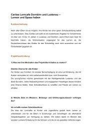 Caritas Lerncafe Dornbirn und Lustenau – Lernen und ... - Vorarlberg