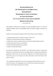 Gemeinschaftslabore der Abt. Ökopedologie der ... - wwwuser - GWDG