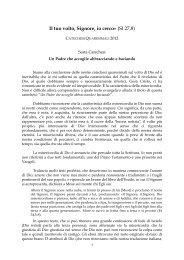 Sesta catechesi quaresimale - Webdiocesi