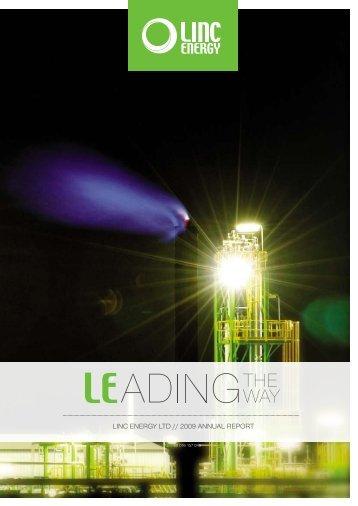LINC ENERGY LTD // 2009 ANNUAL REPORT