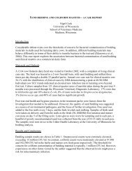 Sand bedding and coliform mastitis - a case report. - University of ...