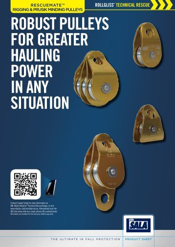 RescueMate™ Rigging Pulleys Product Information Sheet - Media ...