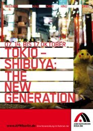 SHIBUYA: NEW GENERATION THE TOKIO – - hebbel am ufer