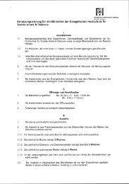 Benutzungsordnung der Bibliothek - Ev. Hochschule für Soziale ...