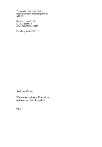 Andreas Mengel Thesaurusrelationen, Konsistenz, Inferenz und ...