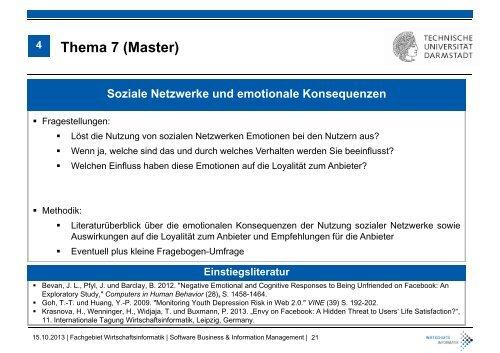 """Seminar WS 2013/14 """"Social Media"""" - Wirtschaftsinformatik"""