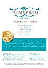 Speisekarte als PDF herunterladen - HUMBERTO RestoBar