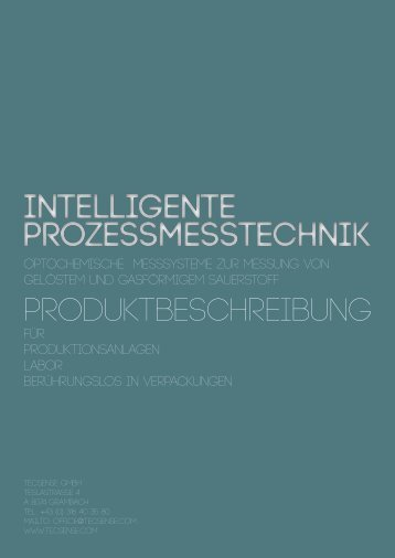 Intelligente Prozessmesstechnik Intelligente ... - TecSense