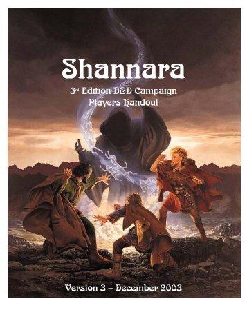 3rd Edition D&D Campaign Players Handout Version 3 ... - Qwest.net
