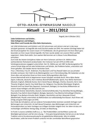 1 - Otto-Hahn-Gymnasium