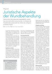 Juristische Aspekte der Wundbehandlung - HEP und Partner
