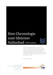 Eine Chronologie zum Idsteiner Hallenbad - FWG Idstein