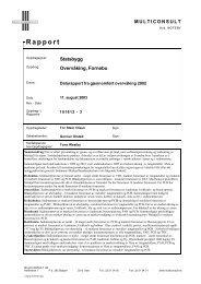Rapport fra gjennomført overvåking 2002 - Statsbygg