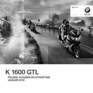 Prijslijst K 1600 GTL - BMW Nederland