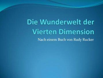 Die Wunderwelt der vierten Dimension