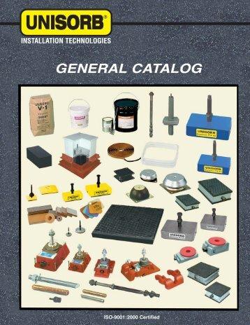 UNISORB General Catalog - Your Equipment Source, Inc.
