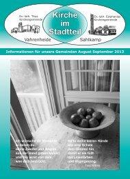 Brief August September 2013 - Ev.-luth. Epiphanias-Kirchengemeinde